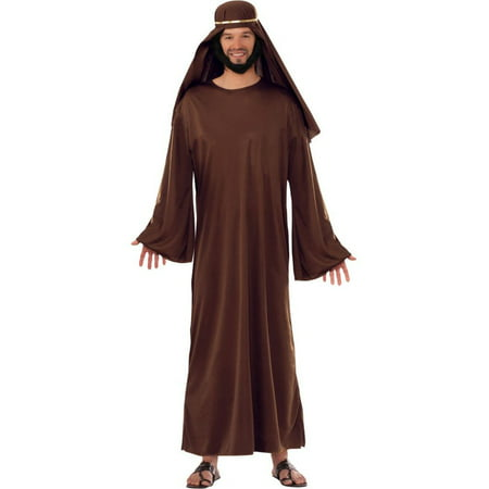 Adult Brown Biblical Robe with Headdress - Homemade Biblical Costumes