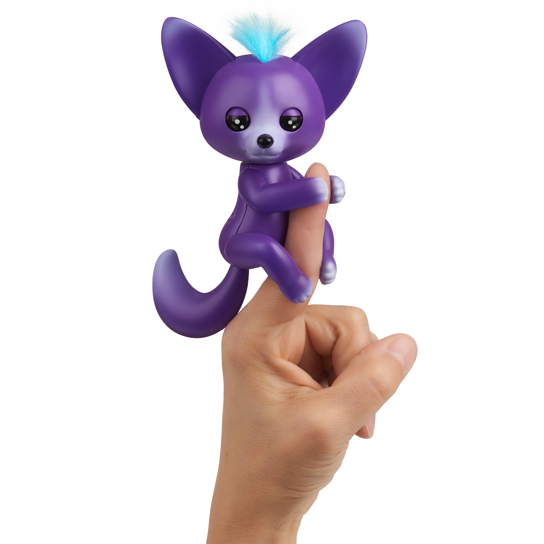 Fingerlings - Interactive Baby Fox - Sarah (Purple & Blue) By WowWee