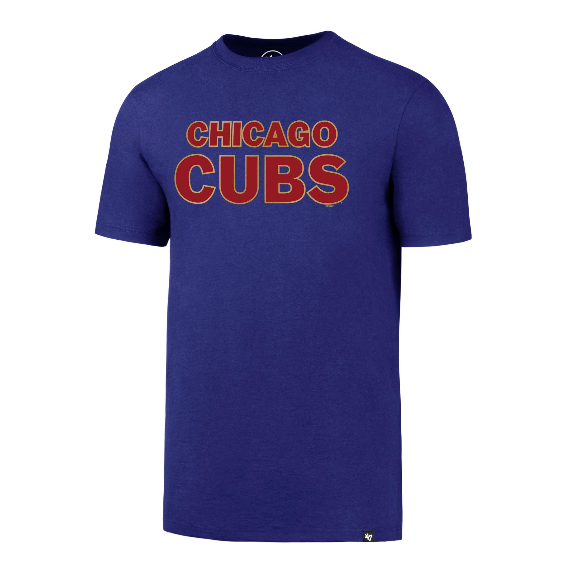 Chicago Cubs '47 2017 Gold Program Diamond King Splitter T-Shirt - Royal