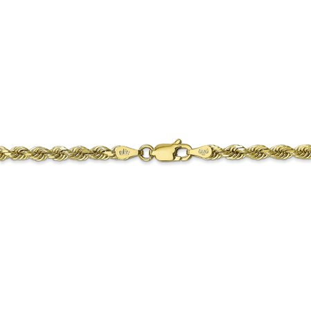 10k Yellow Gold 3.35mm Quadruple Link Rope Chain Necklace 30 Inch Pendant Charm Handmade Fine Jewelry For Women Valentines Day Gifts For Her - image 8 of 9