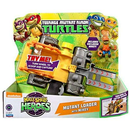 Teenage Mutant Ninja Turtles Half Shell Heroes Mutant Capture Vehicle with Michelangelo Figure Turtles Half Shell