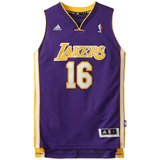 sports shoes 63f1e 8a948 NBA Los Angeles Lakers Pau Gasol #16 Youth Swingman Road ...
