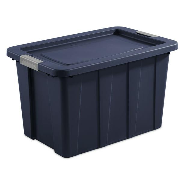 Sterilite 30 Gallon Dark Indigo Latch Tuff Tote 2 Piece Walmart Com Walmart Com