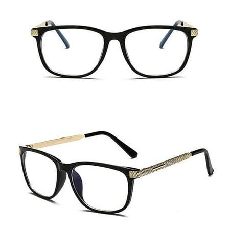 KABOER 1 PCS Fashion Cool Glasses Women Retro Vintage Reading Myopia Eyeglasses Frame Men Square Glasses Optical Clear Eyewear Eyeglasses Frame (Eyeglasses Frame Men)