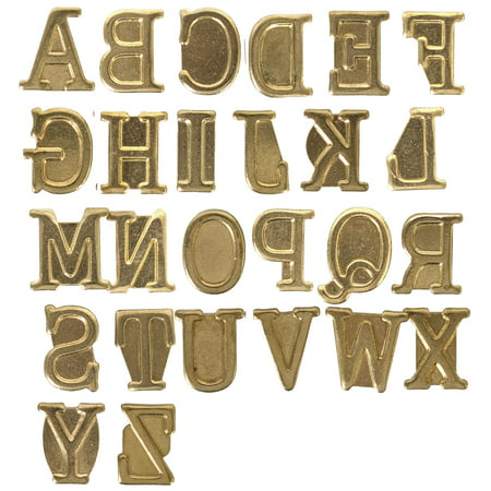 Hot Stamps Alphabet Set 26/Pkg Upper Case](Metal Alphabet Stamps)