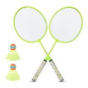 OTVIAP 8.0x21in 1 Pair Badminton Racket Set, Children Badminton Racket, For Leisure And Training Girls Toy Boys Outdoor Sports Game