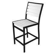 """41"""" Earth-Friendly Recycled Patio Counter Chair - White with Black Frame"""