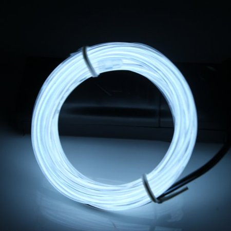 Lerway White Light 3M 10 Colors Tron Neon Glowing Electroluminescent Wire EL Wire with Transformer - Gloving Lights
