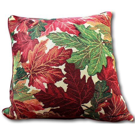 Tache Home Fashion Tapestry Thanksgiving Fall Foliage Leaves Decorative Throw Pillow Cushion Cover