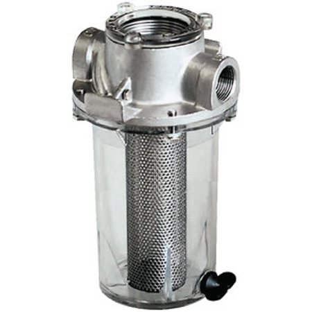 (Groco Raw Water Strainer with #304 Stainless Steel Basket)