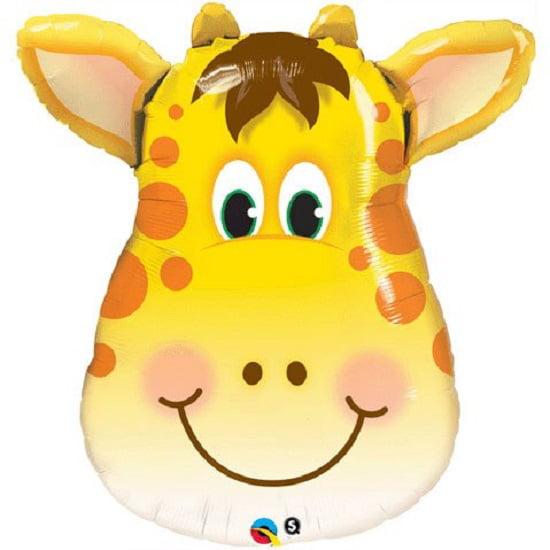 "XL 32"" Jolly Giraffe Balloon Super Shape Mylar Foil Kids Party Decoration"