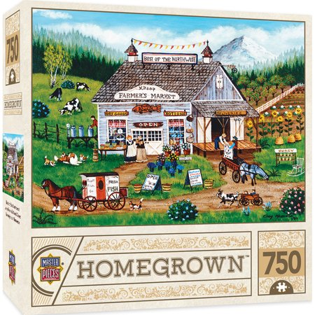 Homegrown Best of the Northwest - 750 Piece Linen Jigsaw Puzzle by Cindy