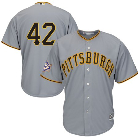 Pittsburgh Pirates Majestic 2019 Jackie Robinson Day Official Cool Base Jersey - Gray