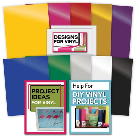 10 RAINBOW VINYL ASSORTED SELECTION 2 Sheets Adhesive Backed Transfer Paper