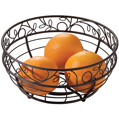 InterDesign Twigz Fruit Basket for Kitchen Countertops, Bronze