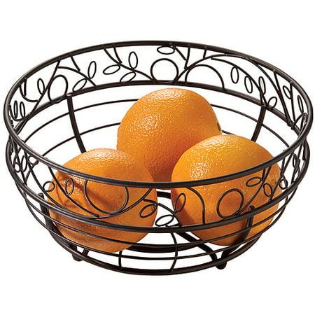 Interdesign Twigz Fruit Basket For Kitchen Countertops Bronze