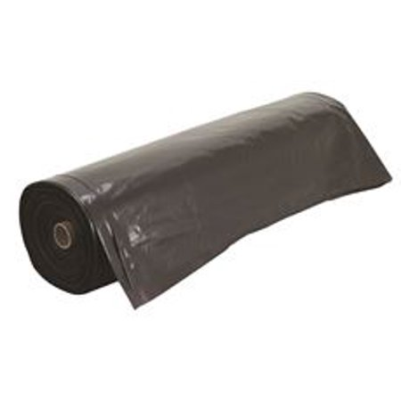Frost King Plastic Sheeting Roll, 10 Ft. X 100 Ft. 4 Mil Black 100' High Gloss 1 Roll