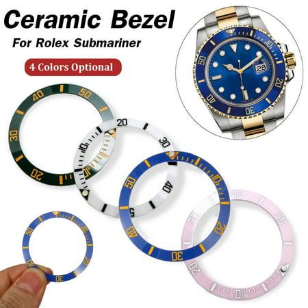 Watch Writing Bezel Insert Date Display Ceramic Watch Wrist Replacement Parts