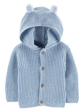 Carter's Baby Boys' Hooded Cardigan, Blue, 9 Months