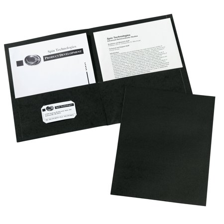 Avery 47988 Two-Pocket Folder, 40-Sheet Capacity, Black (Box of 25)