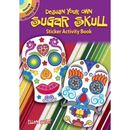 Design Your Own Sugar Skull Sticker Activity Book