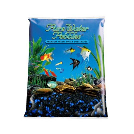 Pure water pebbles aquarium gravel 5 pound midnight glo for Walmart fish gravel
