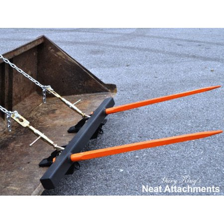 Bucket Bale Spear For Round & Square Hay Bales - 2 x 49