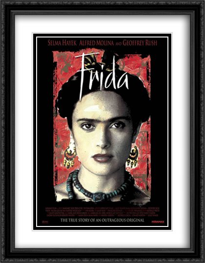 Frida 28x36 Double Matted Large Black Ornate Framed Movie Poster Art Print by FrameToWall