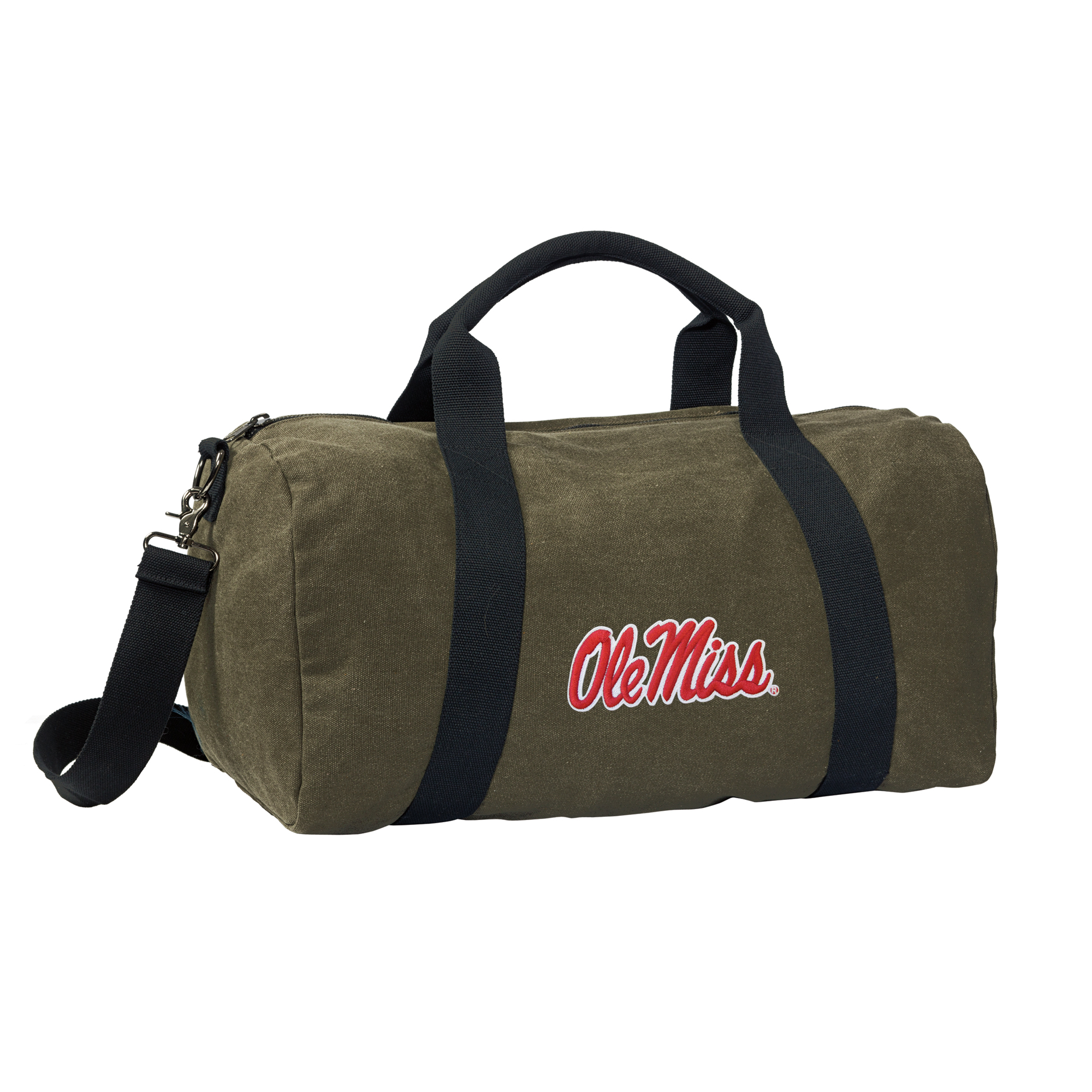 University of Mississippi Duffle Bag CANVAS Ole Miss Luggage Bag by