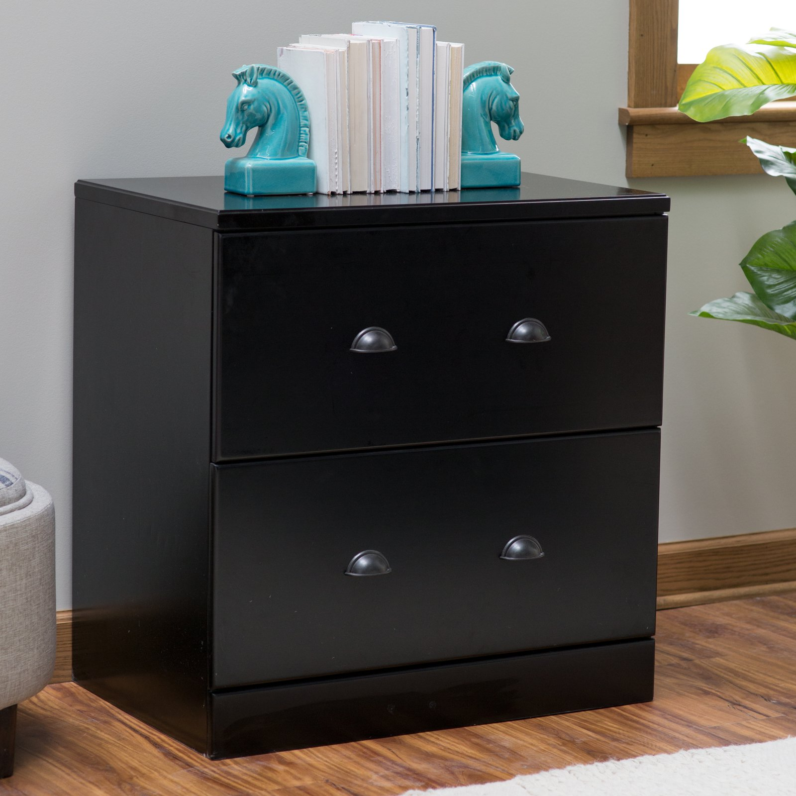 Belham Living Cambridge Lateral Wood File Cabinet - Black