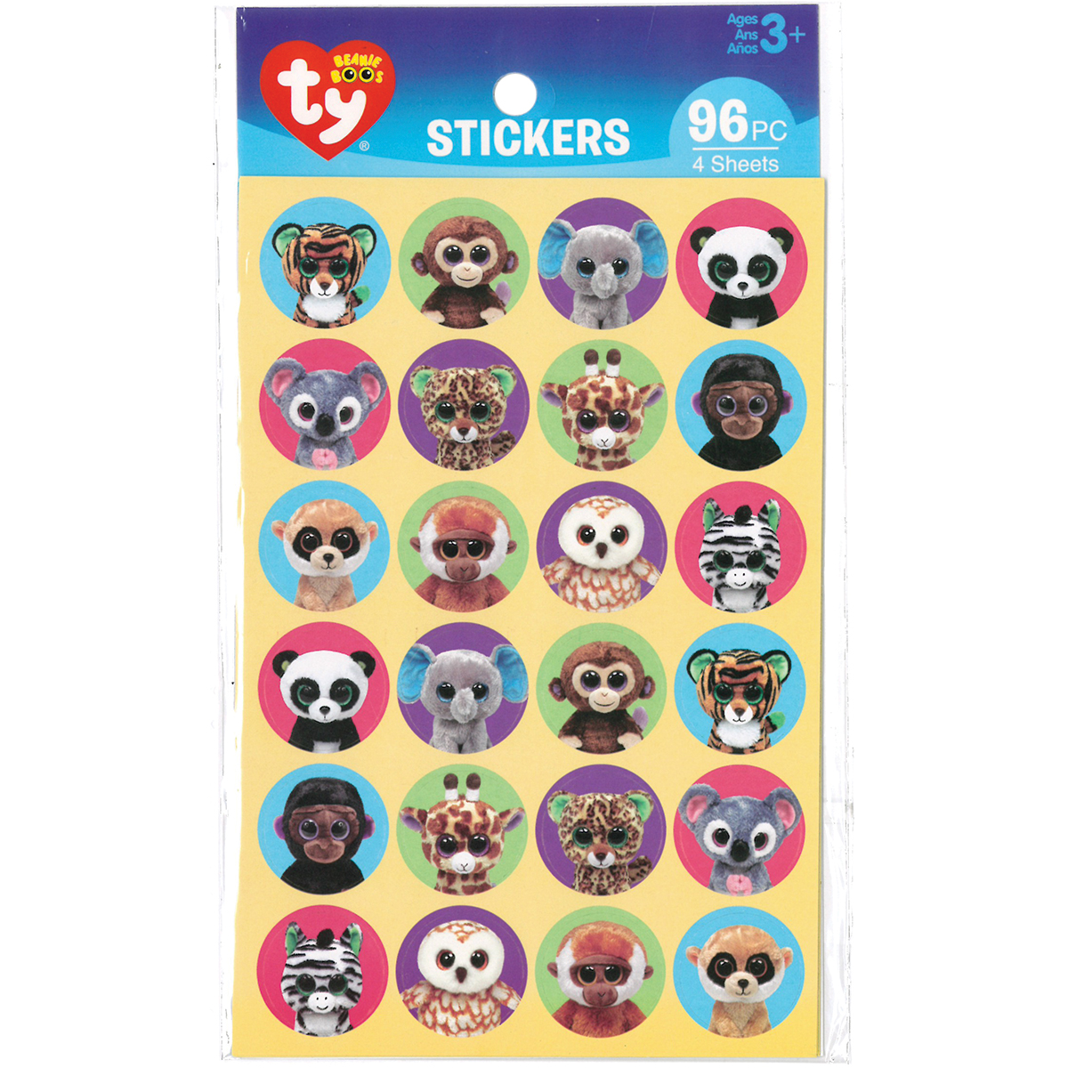 Beanie Boos Stickers 96 Pkg-Jungle - Walmart.com e9ceac9dcd9