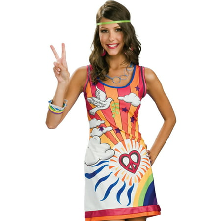 Sexy 60s 70s Hippie Mod Go Go Disco Girl Womens Halloween Costume S-L - Mob Girl Costume