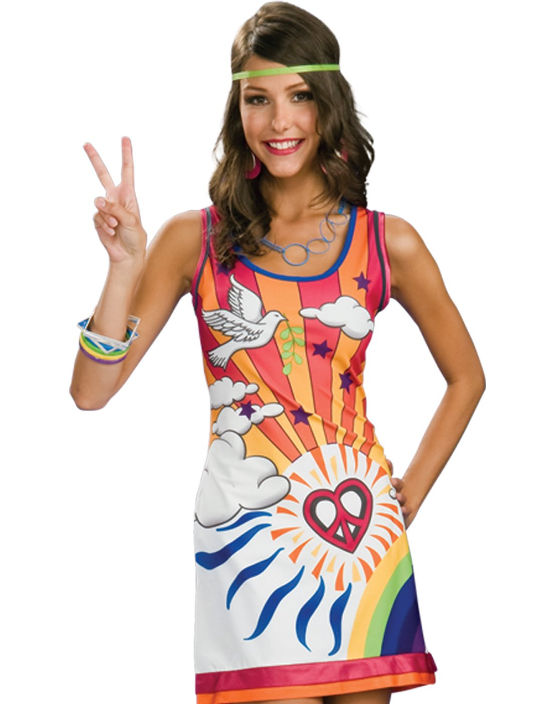 Sexy 60s 70s Hippie Mod Go Go Disco Girl Womens Halloween Costume S-L  sc 1 st  Walmart : 60s costumes for girls  - Germanpascual.Com