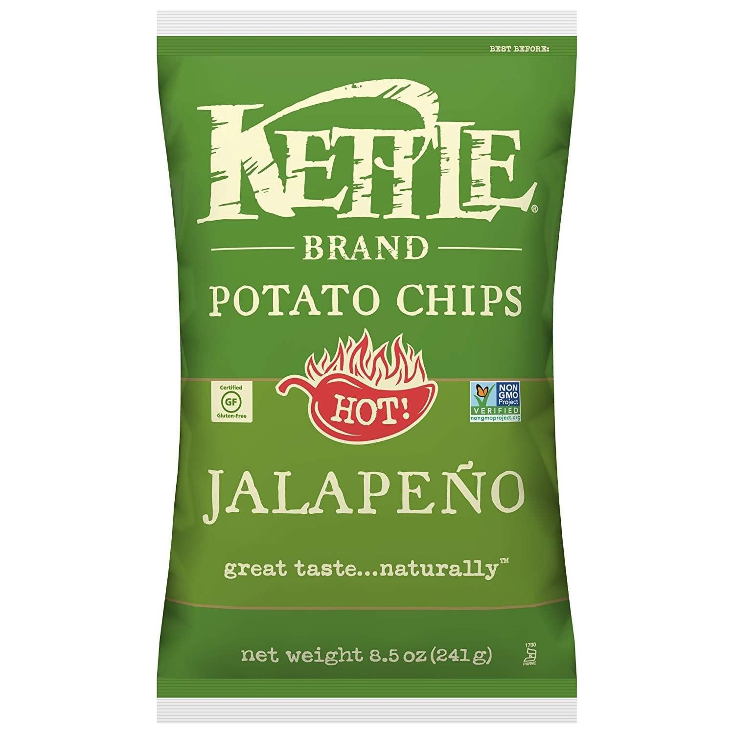 Kettle Brand Potato Chips, Jalapeno, 8.5 Oz