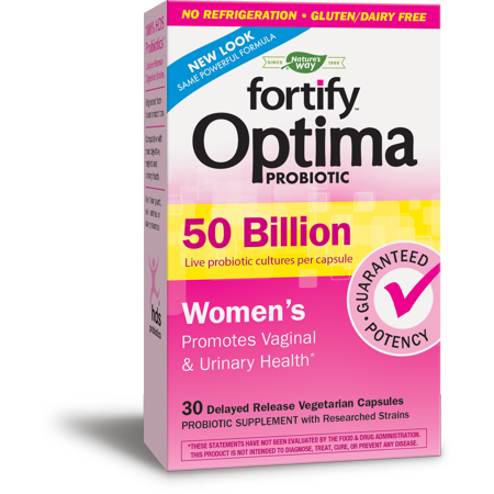 Natures Way Fortify Optima Womens Probiotics 50 Billion Cultures 30 (Best Nature's Way Probiotics For Women)