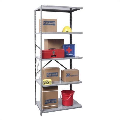 Hallowell Hi-Tech Open Type Adder 4 Shelf Shelving Unit