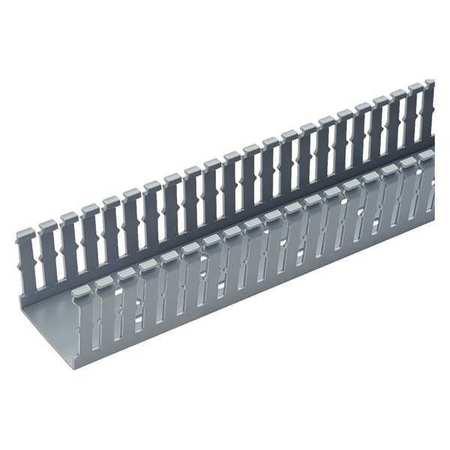 Wire Duct,Narrow Slot,Gray,1.26 W x 1 D PANDUIT F1X1LG6-A