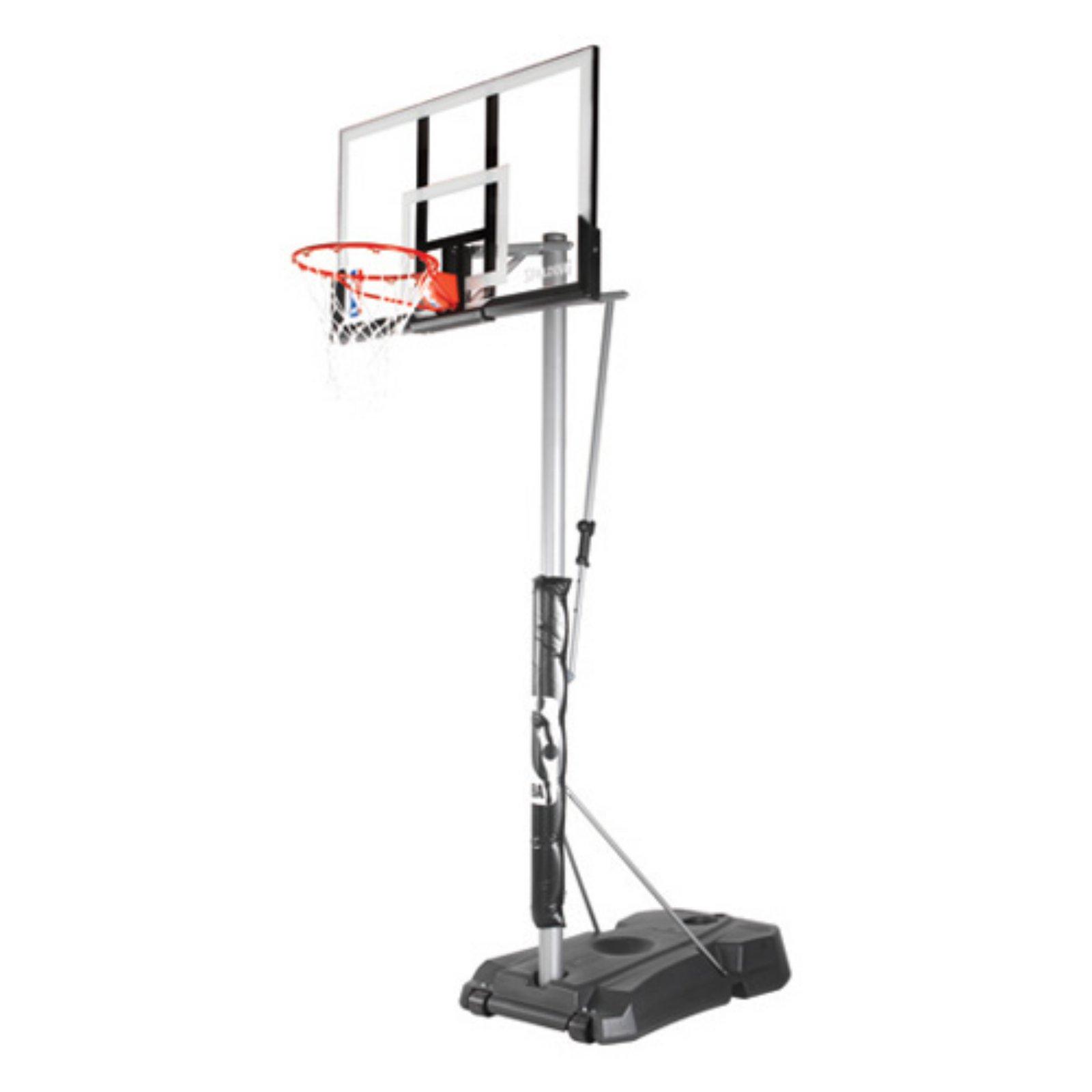 "Spalding NBA 52"" Acrylic Hercules Pro Glide Advanced Portable Hoop System"