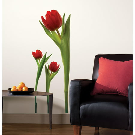 roommates tulip peel and stick wall decals. Black Bedroom Furniture Sets. Home Design Ideas