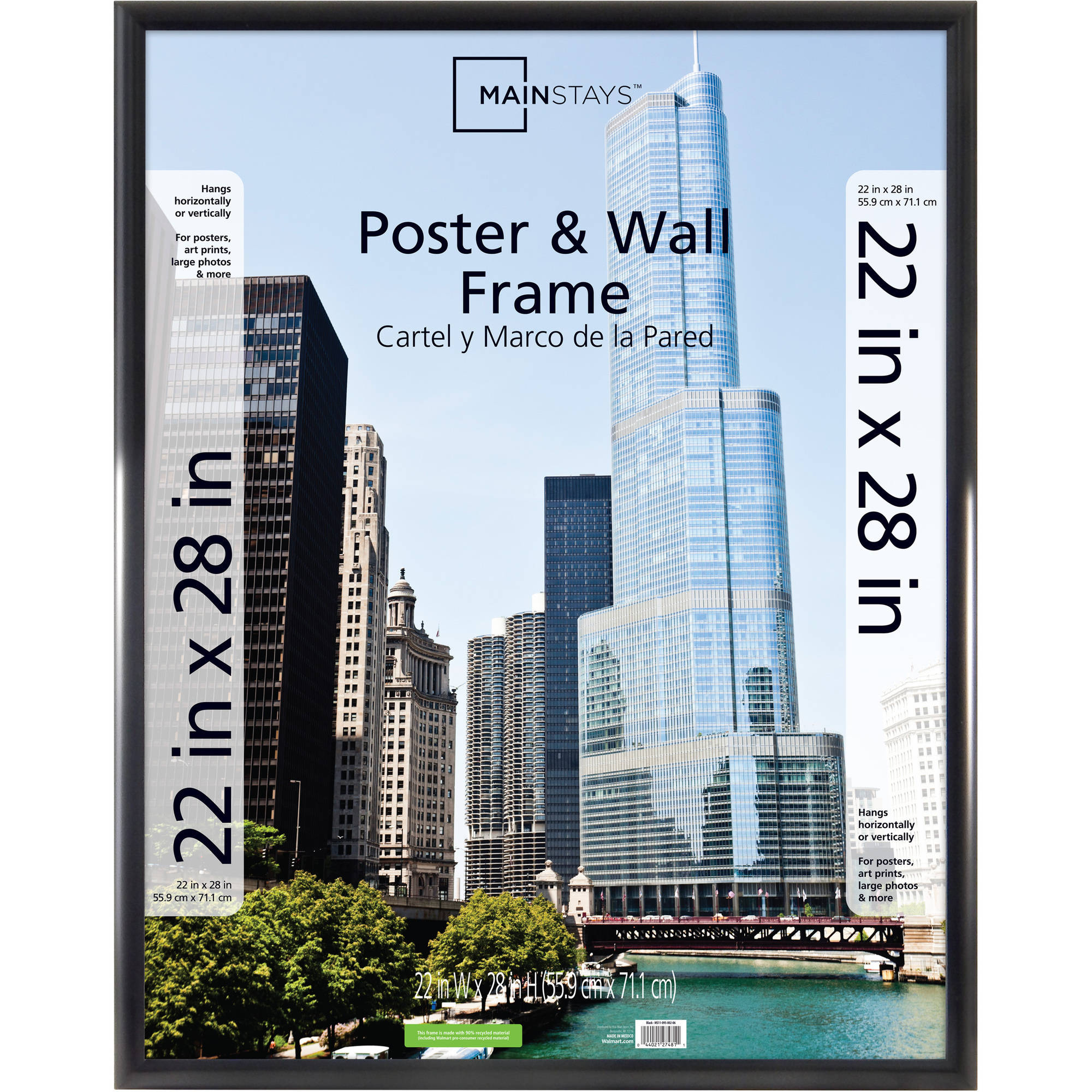 "Mainstays 22"" x 28"" Trendsetter Poster and Picture Frame, Matte Black"