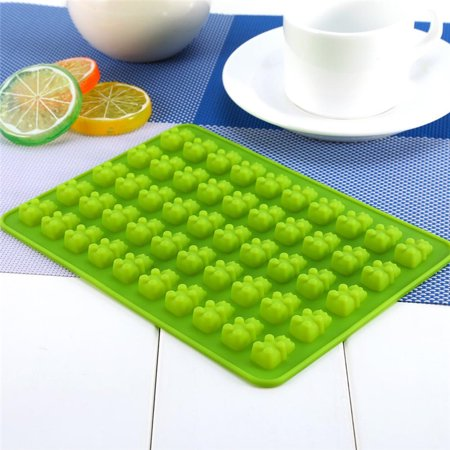 HURRISE 50 Gummy Maker Cavity Bear Chocolate Mold Novelty Silicone Chocolate Candy Ice Tray Blue/Green ()