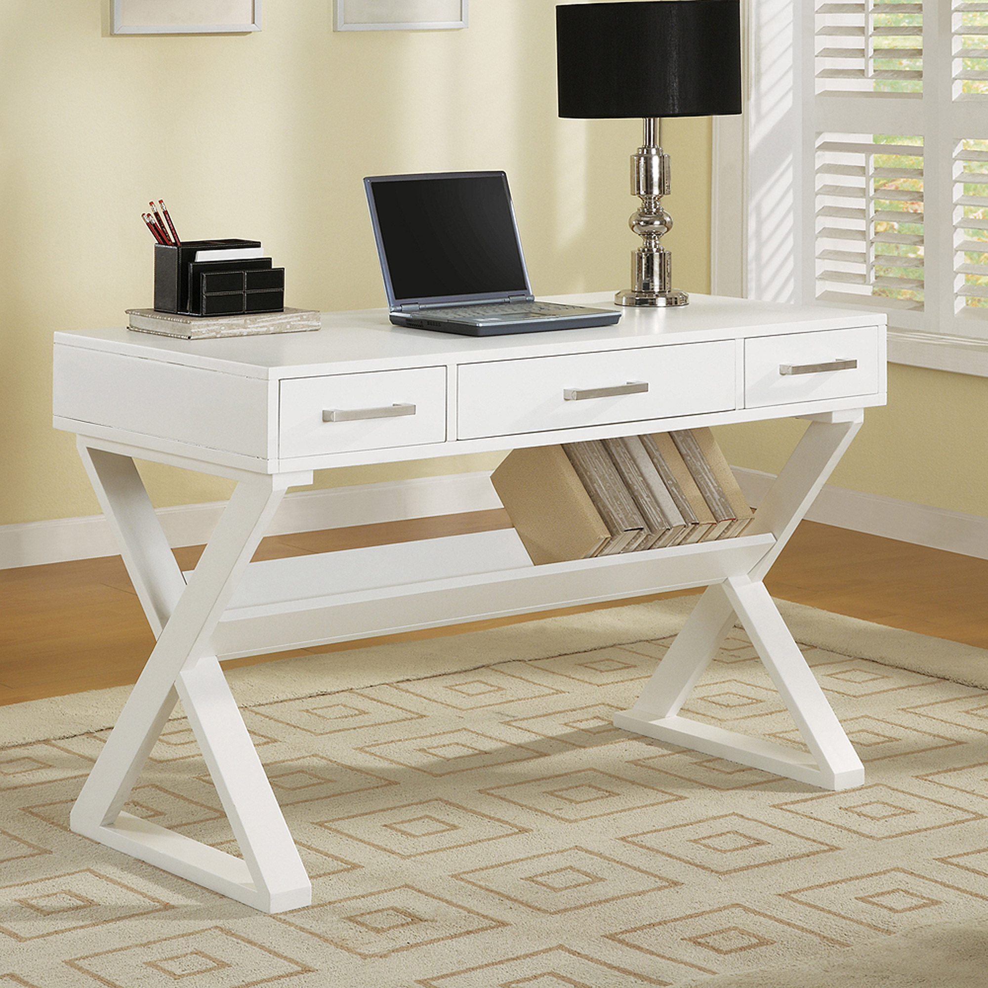 Coaster Company Contemporary Computer desk, White