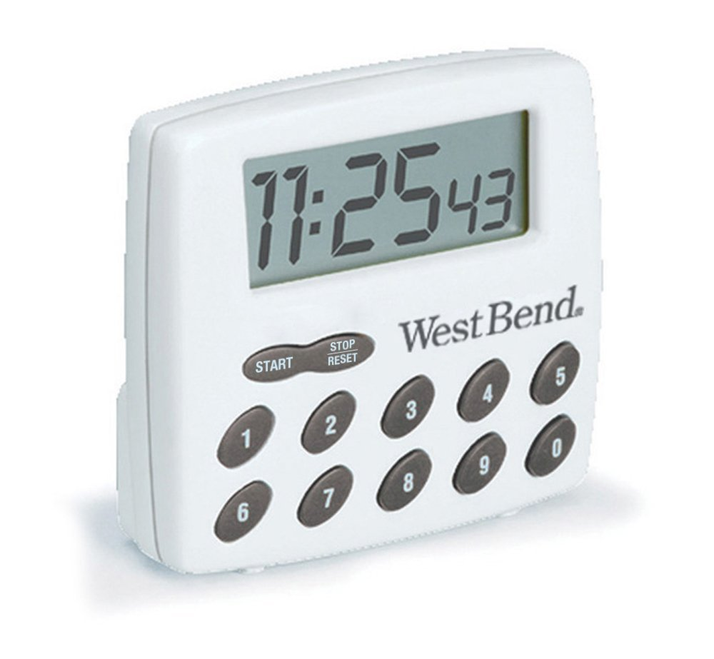 Digital Timer, White Digital White, Ship from USA,Brand West Bend