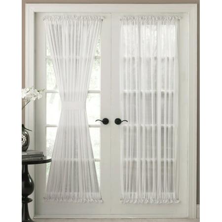 36' White Door - Reverie Semi-Sheer White door panel 36