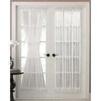 """Reverie Semi-Sheer White door panel 72"""" long"""