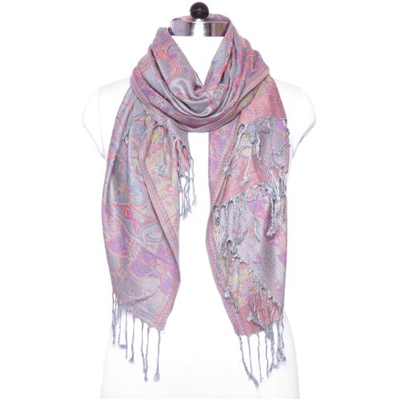 Blue Scarfs for Women Pashmina Cashmere Fashion Scarfs for Winter Paisley Print Scarves for Gift Accessories by Oussum