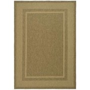 Martha Stewart  by  Color Frame Coffee/ Sand Indoor/ Outdoor Rug (6' 7 x 9' 6)