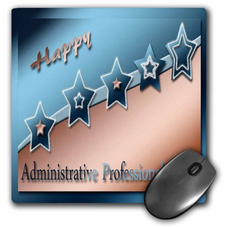 - 3dRose Administrative Professionals Day, Copper and Blue , Mouse Pad, 8 by 8 inches