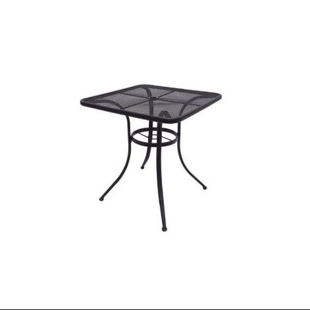 Commercial Wrought Iron 28 Square Mesh Top Outdoor Bistro Cafe Patio Table Multi-Colored ()