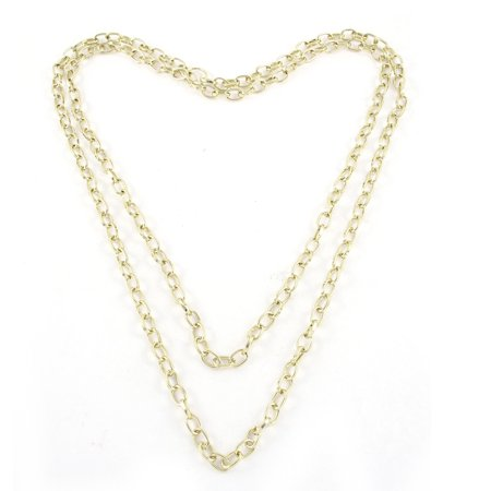 Lady Gold Tone Metal Sweater Necklace Neck Chain Jewelry Link Decoration Gift ()